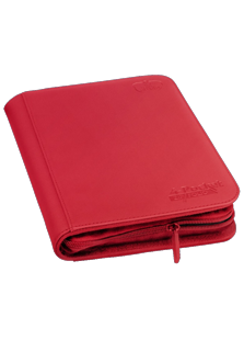 Ultimate Guard 4 Pocket Zipfolio Xenoskin Red