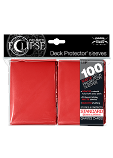 Ultra Pro: Pro-Matte Eclipse Red 100ct