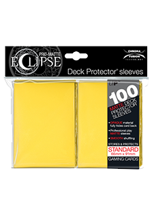 Ultra Pro: Pro-Matte Eclipse Yellow 100ct