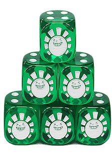 Hareruya Original Clear Green Dice