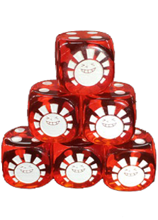 Hareruya Clear Red Dice