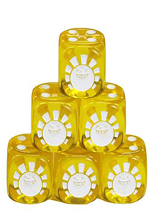 Hareruya Original Clear Yellow Dice