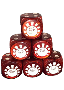 Hareruya Metallic Red Dice