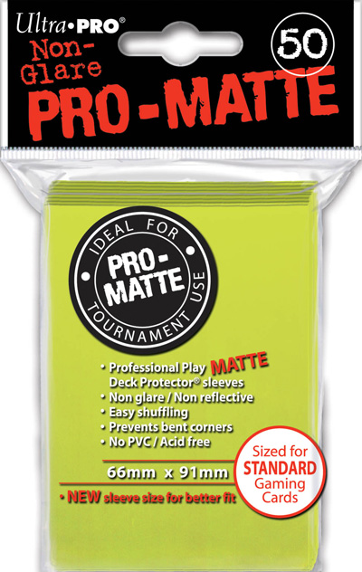 Ultra Pro: Pro Matte Bright Yellow