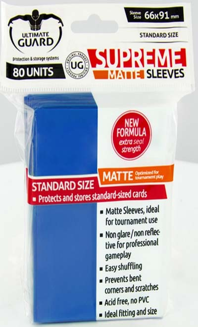 Ultimate Guard Supreme Sleeves - Matte Blue