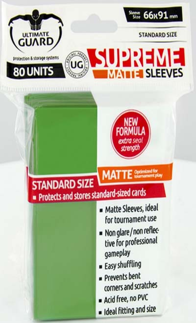 Ultimate Guard Supreme Sleeves - Matte Green