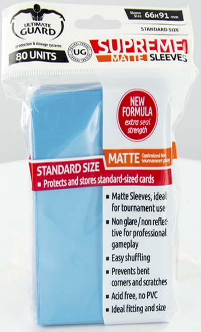 Ultimate Guard Supreme Sleeves - Matte Light Blue