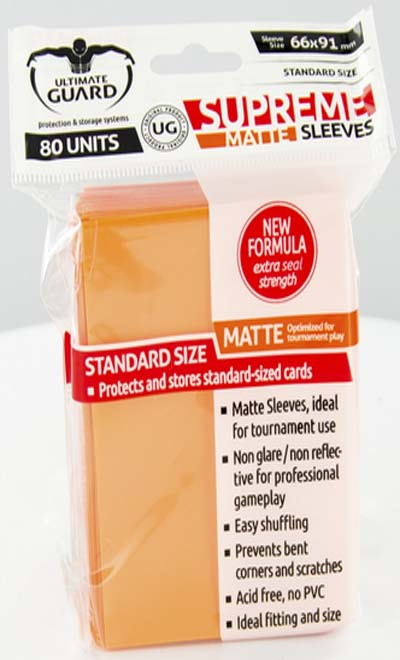 Ultimate Guard Supreme Sleeves - Matte Orange