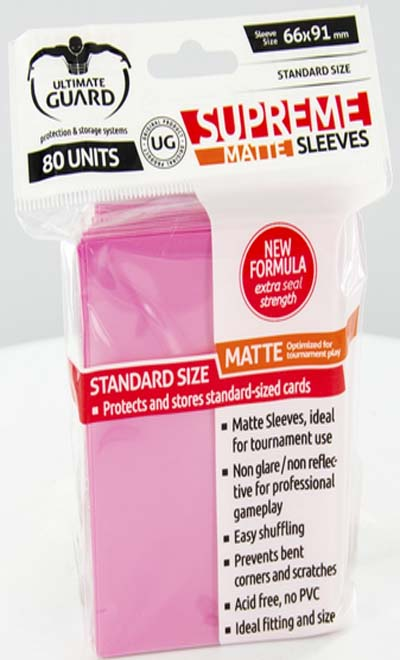 Ultimate Guard Supreme Sleeves - Matte Pink