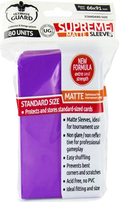 Ultimate Guard Supreme Sleeves - Matte Purple