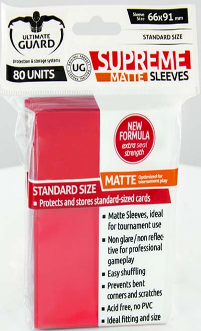 Ultimate Guard Supreme Sleeves - Matte Red