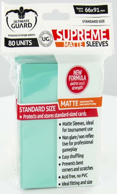 Ultimate Guard Supreme Sleeves - Matte Turquoise