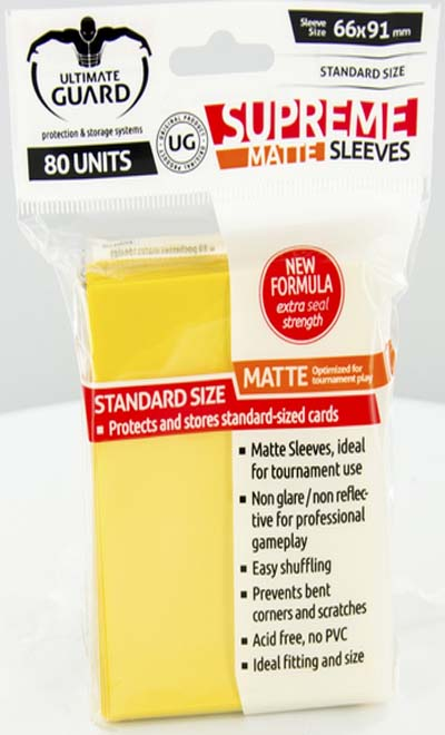 Ultimate Guard Supreme Sleeves - Matte Yellow