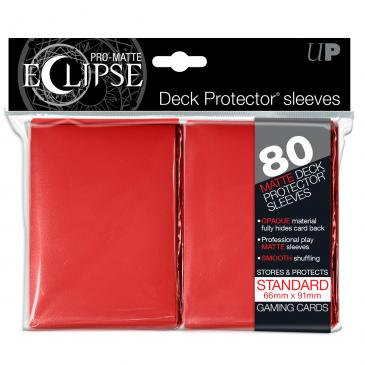 Ultra Pro: Pro-Matte Eclipse Red 80ct