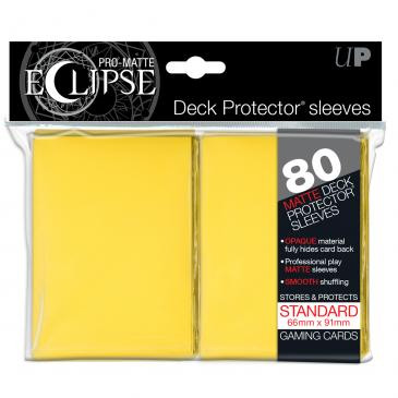Ultra Pro: Pro-Matte Eclipse Yellow 80ct