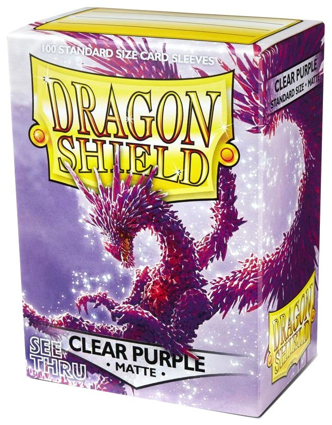 Arcane Tinmen Dragon Shield Matte Clear Purple