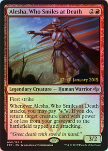 Alesha, Who Smiles at Death (Prerelease Foil)